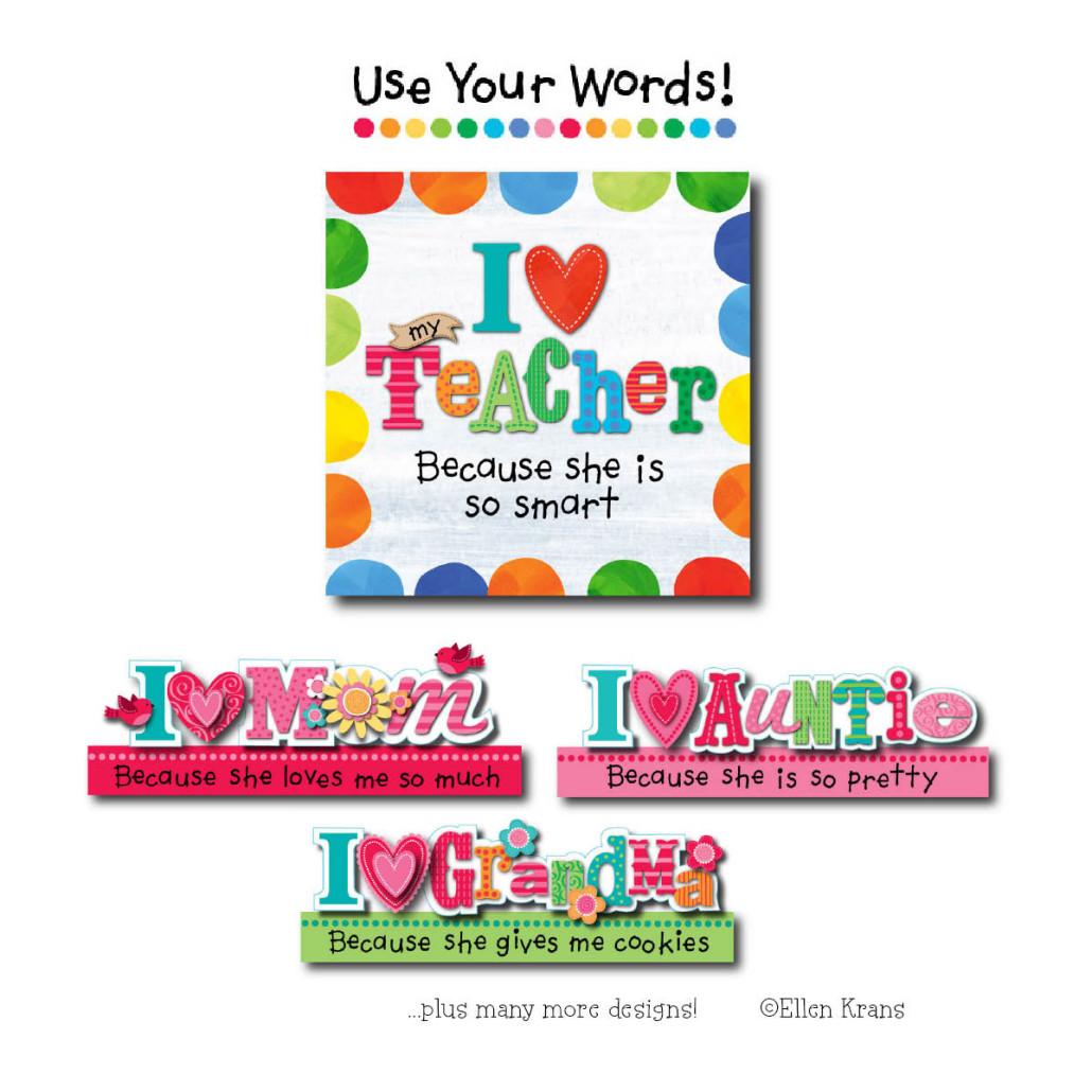 Two Town Studios - ©Ellen Krans - Use Your Words!